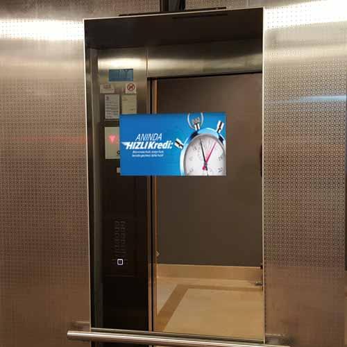 asansör içi ayna ekran